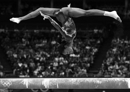 Game changer. Gabby Douglas (first African-American All-Around Gymnast Olympian to win Gold)