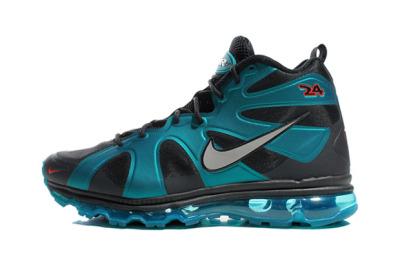 Ken Griffey's 2012 Nike Air Max Fury: Freshwater. (**Watch online sites to make sure you have authentic shoes. the 24 should be a scarlet color on this color shoe. Not white, black, or matching the freshwater green.) Also available in MANY other colors. Check out the Soar-White-and Cyber pair!