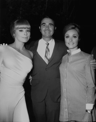 sharonandromanlove:  Elke Sommer, Army Archerd, and Sharon Tate in 1968. The two actresses were promoting their film, The Wrecking Crew