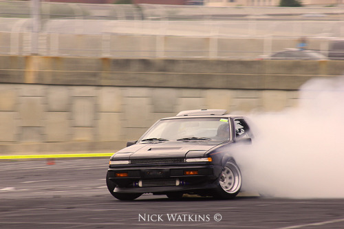 classandcars:  SR swapped S12 popping out a nice slide.