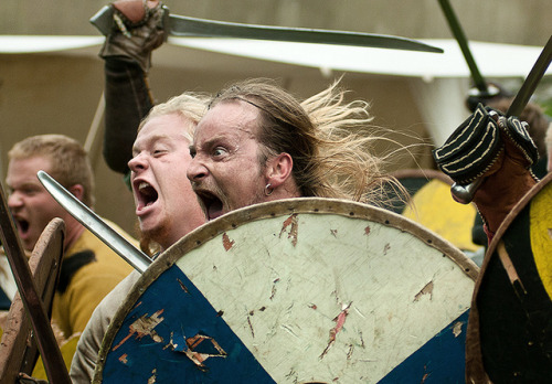 Friendly visitors-  Dublin Viking Festival 2010 by Tom Szustek on Flickr.