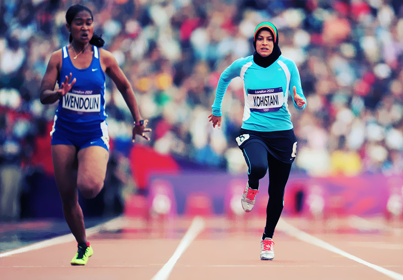 "olympicsusa:  OLYMPICS DAY 7 ""THE YEAR OF THE WOMEN""Tahmina Kohistani, the only female athlete to represent Afghanistan competes in the Women's 100m Sprint. Finishing 31st out of 32 athletes. ———- ""Such a short distance, she thought. Just 100 more meters and it would all go away. The abuse: the men watching her train in Kabul, heckling her to go home, ""to get behind the man;"" the taxi driver who kicked her out of his cab when he found out she was training for the Olympics."" ""It is the journey. Being here is more important for me than a gold medal."" Followers, if you read one thing today and only one thing today, READ Tahmina's story. Had me in tears. It is one of inspiration, strength, power, change and courage."