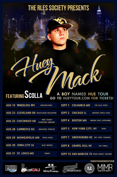 renaissancedreams:  Huey Mack's #ABoyNamedHue National Tour Featuring Scolla Starts August 15th | More dates being added…