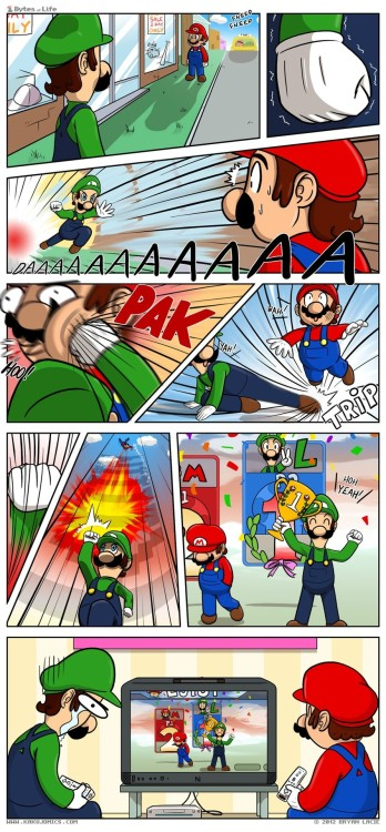 Luigi can never catch a break.