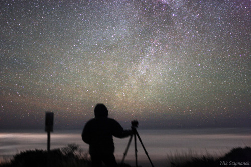 Astrophotographer Paradise  Photographing the glorious starry sky and the ocean of clouds from La Palma, Canary Islands.