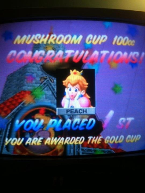 Oh you know, Peach is got it! ;] #N64 #MarioKart #PrincessPeach