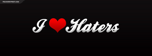 I Heart Haters Plain Facebook Cover