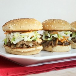 Duck Confit Sliders with Asian Slaw