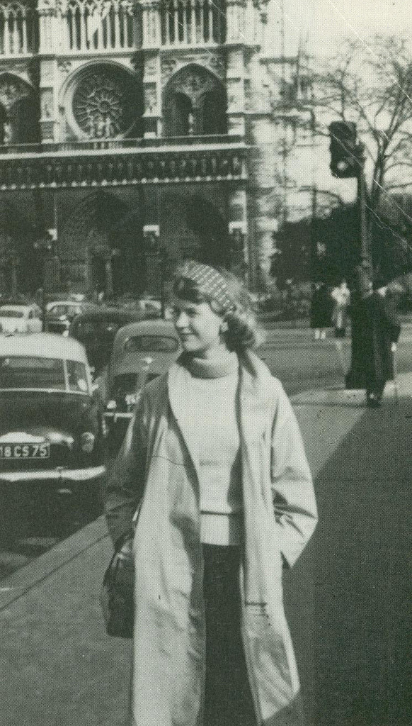 Sylvia in Paris, 1956