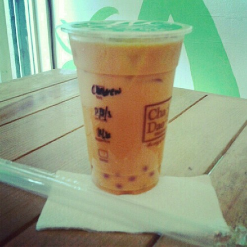 Mom's treat: Cha Dao's Cha Yen with popping bobba. <3 (Taken with Instagram)