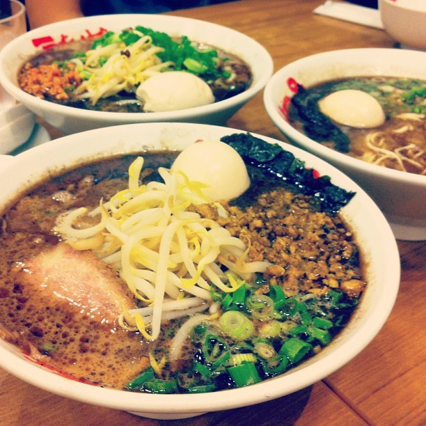 Golden curry ramen! (Taken with Instagram at Nantsuttei Ramen)