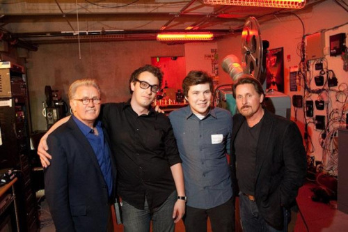 "Me with Martin Sheen, Emilio Estevez and Ross after the Denver premiere of ""The Way"". I got to give Martin Sheen a lesson on 16mm and 35mm projection. He ended up asking us if we wanted a photo (we weren't allowed to ask for photos). He was like the grandfather I never had. Such a nice man."