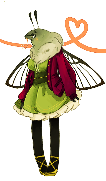 "tumblino:  Milly the hummingbird moff she's kind of sad she's not greener like the ""prettier"" hummymoffs u 3 u"