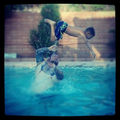 Pool time with Bubba! (Taken with Instagram)