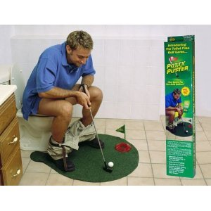 Potty Putter Putting Mat Golf Game $14.00