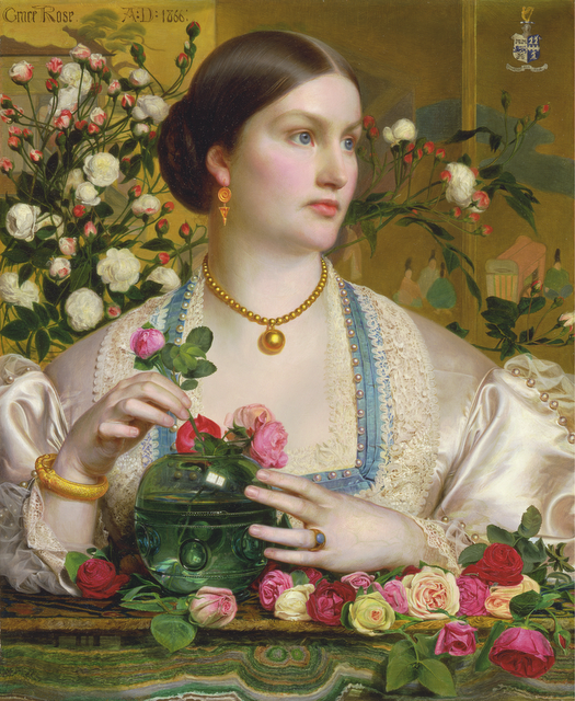 "mudwerks:  (via Flickr: Art & Vintage's Photostream) Frederick Sandys ""Grace Rose"" 1866"