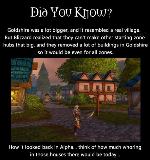 The Old Goldshire! Before it was robbed of it's innocence.