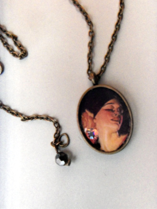 Vintage Fashion Magazine Photo Pendant from lorrained48 via (copious)