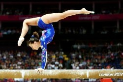 Carlotta Ferlito of Italy competes in the Women's All Around Final at the 2012 Olympic Games.