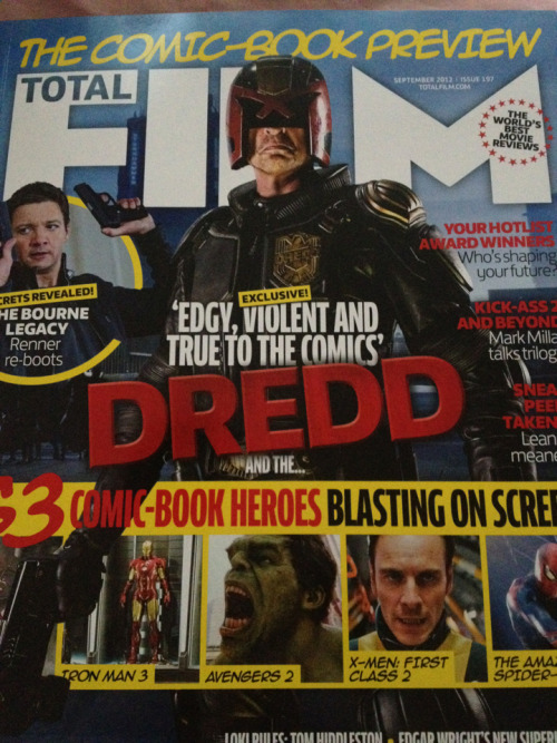 loulovesjt2608:  Just went and brought total film! (only coz Karl urban is on the front and inside it) swear I just spend my money on everything Karl related.