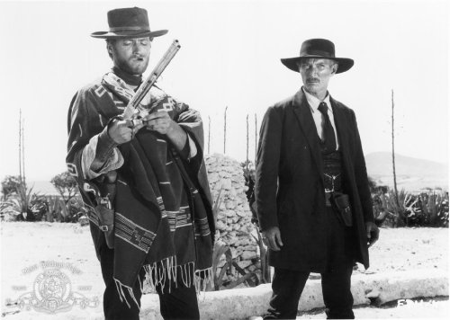 Clint Eastwood and Lee Van Cleef in Sergio Leone's For a Few Dollars More (1965)