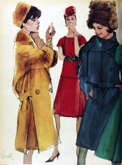 1962 fashion illustration.