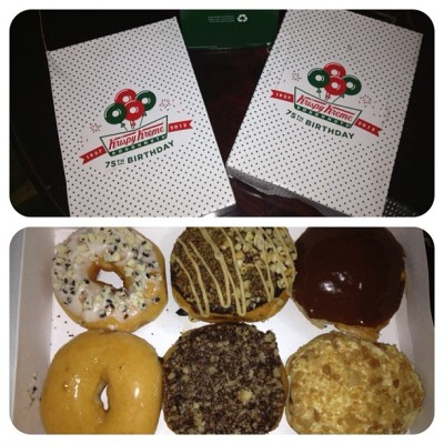 Krispy Kreme from the sweetest cousin evah. Yay! :)) #krispykreme #comfortfood #yummy #instagood #instafood #foodporn (Taken with Instagram)