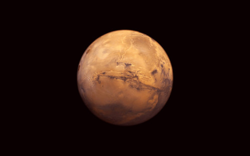 The Best Picture Of Mars You'll See For A While Taken by one of the earlier orbiters.