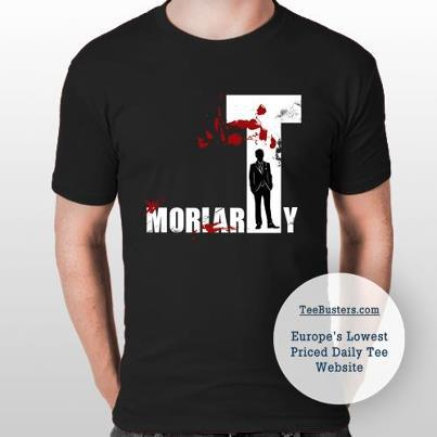 sophiehayes:  24 HOURS LEFT TO BUY THIS MORIARTY SHIRT ON TEEBUSTERS