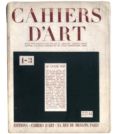Cahiers d'Art, 1937, no. 1 - 3. (via)