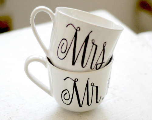 How cute - Mr. and Mrs. Cups! One day…