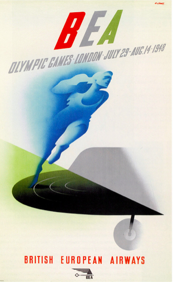 Olympic Games London 1948 poster Source: Paul Malon