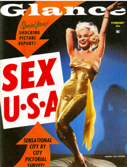 Glance, February 1959On the cover: Mamie van Doren Source: Paul Malon