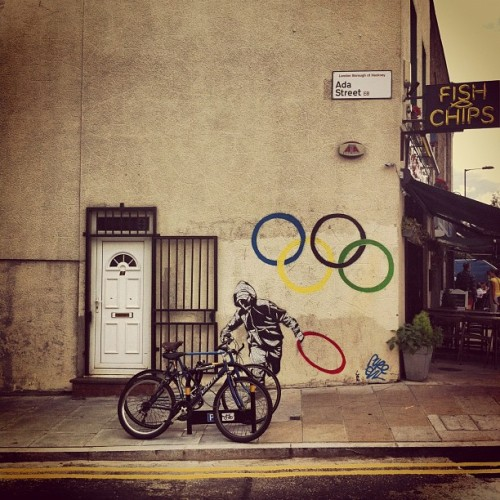 #london2012#banksy#olympics#2012#graffiti (Taken with Instagram)