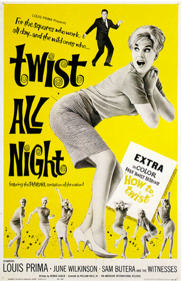 Twist All Night, movie poster (1961) Source: Paul Malon