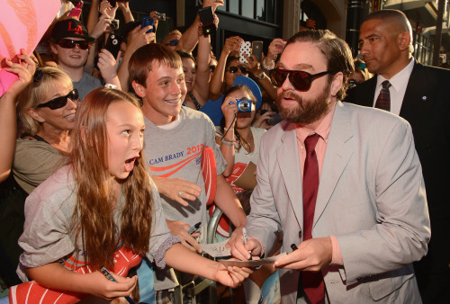 "gettyimages:  WOW!!! Actor Zach Galifianakis attends the Los Angeles Premiere of ""The Campaign"" at Grauman's Chinese Theatre on August 2, 2012 in Hollywood, California.  Photo by: Mark Davis/WireImage"