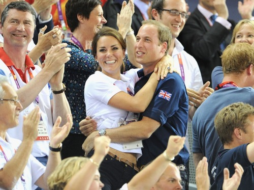 gettyimages:  William and Catherine Celebrate: Catherine, Duchess of Cambridge and Prince William, Duke of Cambridge during Day 6 of the London 2012 Olympic Games at Velodrome on August 2, 2012 in London, England.  Photo by: Pascal Le Segretain/Getty Images