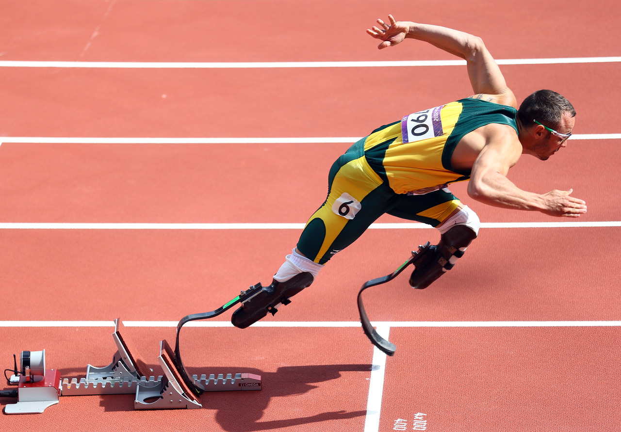 Oscar: Oscar Pistorius of South Africa competes in the Men's 400m Round 1 Heats on Day 8 of the London 2012 Olympic Games at Olympic Stadium on August 4, 2012 in London, England. Photo by: Paul Gilham/Getty Images