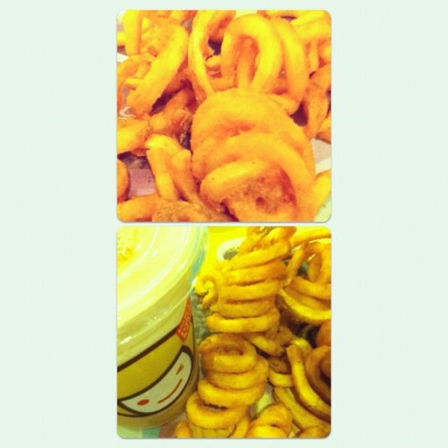 Twister Fries and Happy Lemon! #HappyRainyDayFood 🍟👍😍🌀 (Taken with Instagram)
