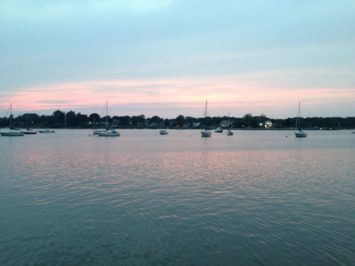 Sunset over the Navesink