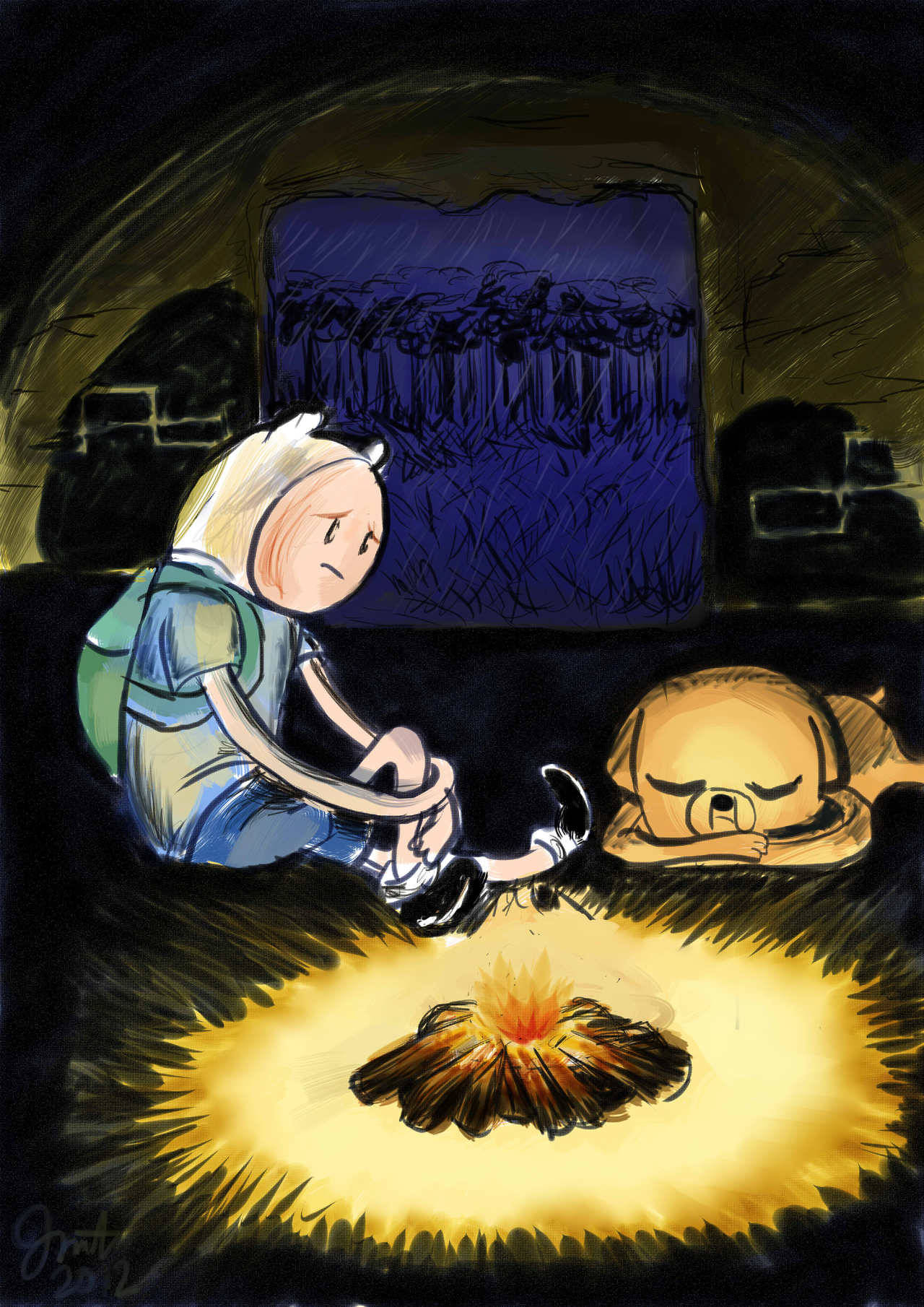 migz8793:  Adventure Time fan art made in Paint Tool SAI