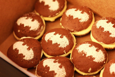 Filled With Sweets - Batman Whoopie Pies by tychenyt on Flickr.