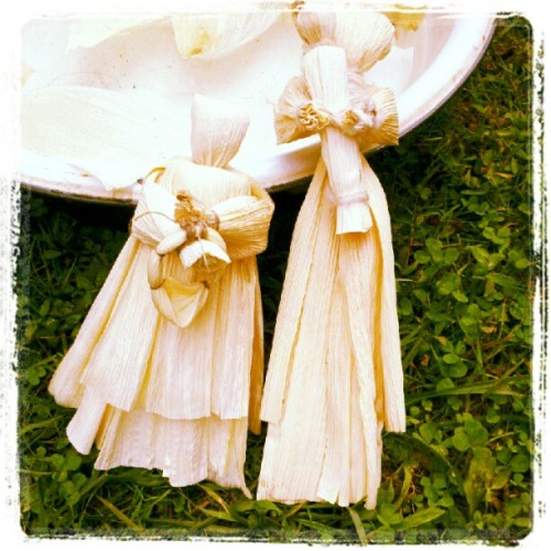 Corn husk dolls (Taken with Instagram)