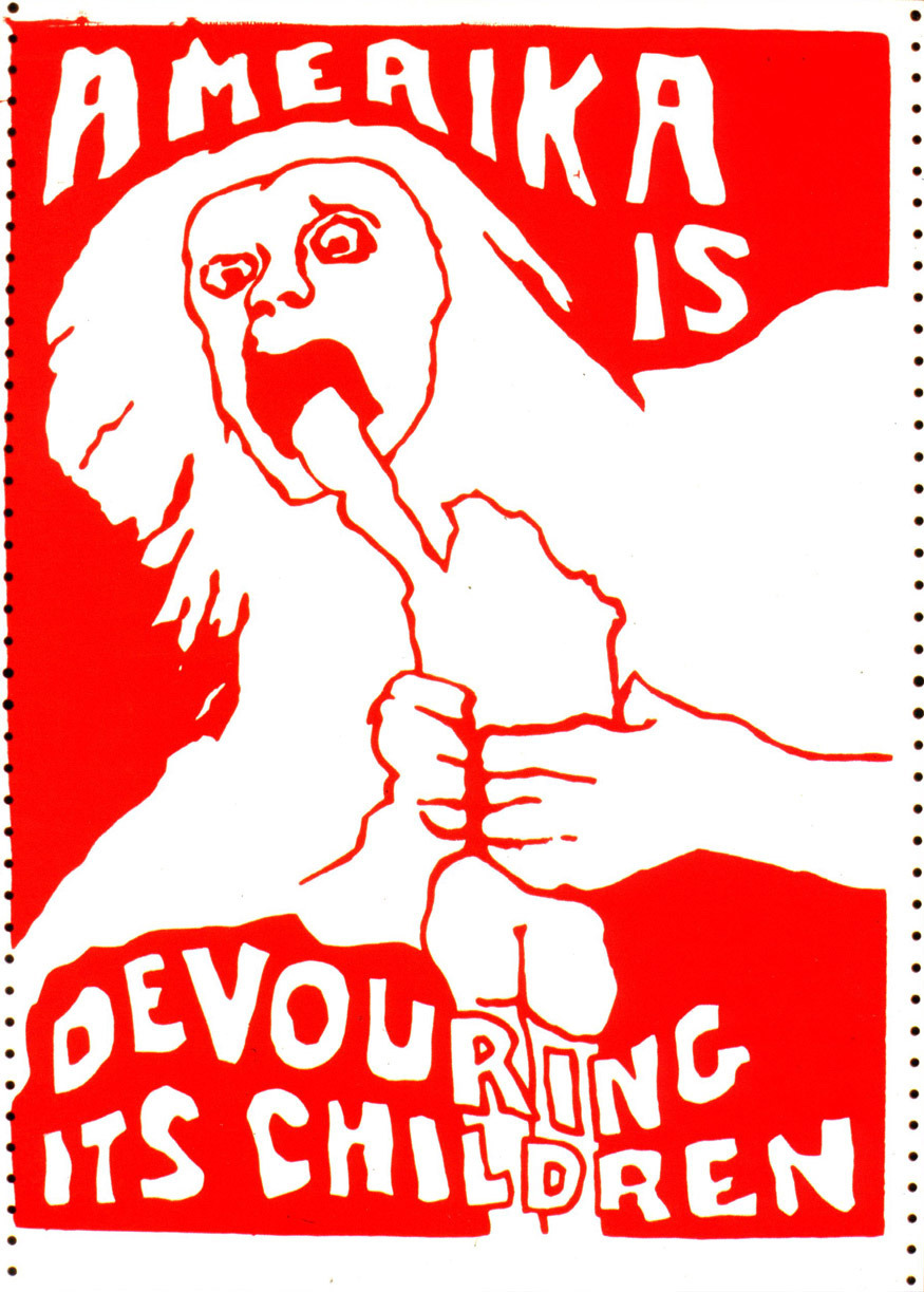 Amerika is Devouring its ChildrenJay Belloli, 1970, screenprint Scanned from Lincoln Cushing's new book, All of Us or None (Heyday, 2012)