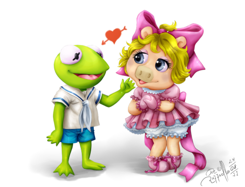 VIA lostmecookieatthedisco: The Muppets Babies Cute Couple by =LuizRaffaello
