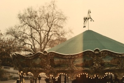 ma-demoiselle-cherie:  An old merry-go-round in the district of Montmartre in Paris, France. I use to go in it when I was a little girl & I still love looking at it when I pass behing it when I go to school every morning ^^