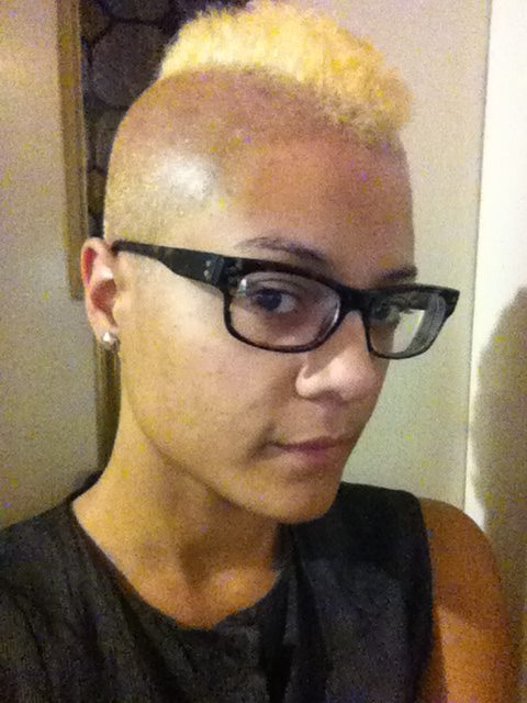 took the plunge and dyed my afro blonde… then queered it out!