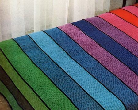 internationalknittingpatterns:  striped blanket pattern  Ooooohhhhhhh nice