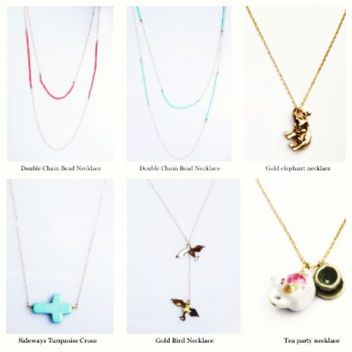 Some of our favorite necklaces are back in stock! (Taken with Instagram at www.brandymelvilleusa.com)