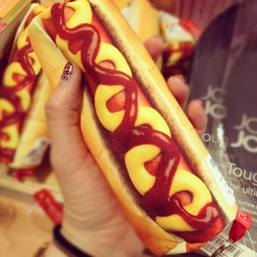 Hot dog pencil case! #randomtypography #backtoschool #foodie  (Taken with Instagram at Urban Outfitters)